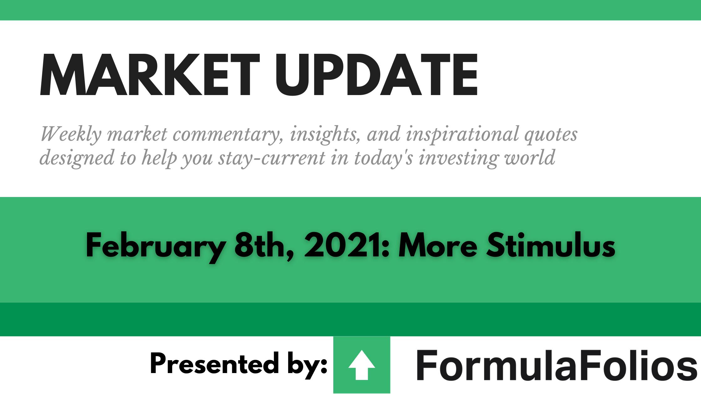 Market Update: More Stimulus