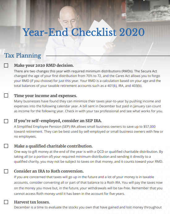 Audio: 2020 Year End Checklist